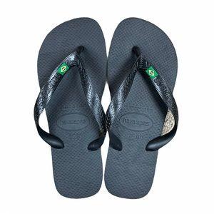 NWOT Havaianas Black Brazil Flip Flop